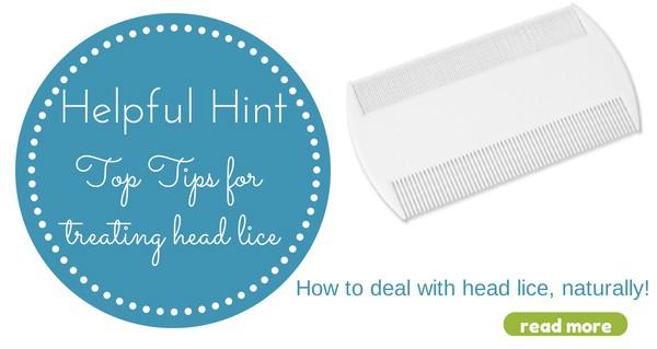 helpful hint head lice