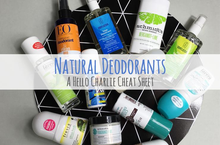 natural deodorant cheat sheet