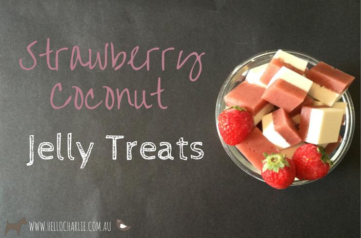 Strawberry Coconut Jelly Treats