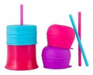 Boon Snug Straw Cup Pink Multi