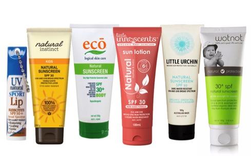 natural sunscreen cheat sheet