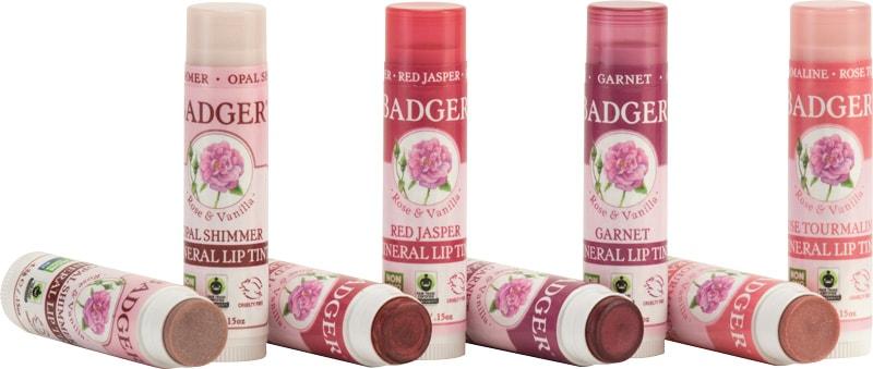Badger mineral lip tints open