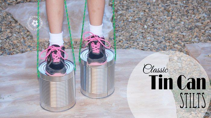 Classic Tin Can Stilts