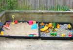 DIY Sand Box and Gravel Pit