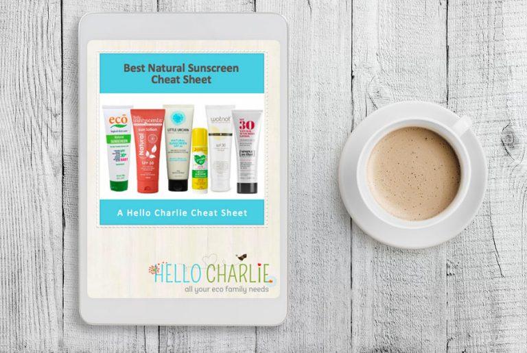Best Natural Sunscreen Cheat Sheet 2018