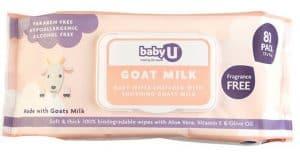 Baby U Goat Milk Fragrance Free Baby Wipes