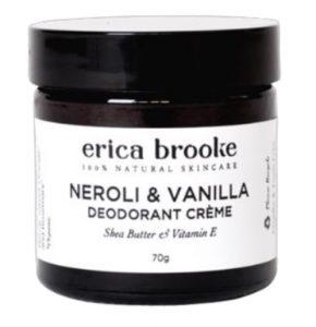 Erica Brooke Natural Deodorant Creme - Neroli & Vanilla