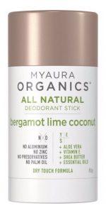 My Aura Organic Deodorant - Bergamot Lime and Deodorant