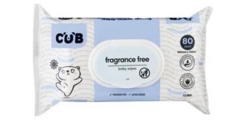 Cub Fragrance Free Baby Wipes