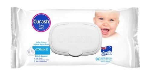 Curash Moisturising Baby Wipes