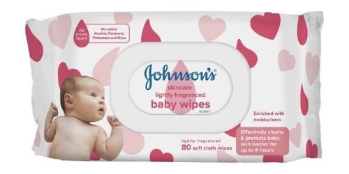 Johnsons Baby Skincare Wipes Lightly Fragranced