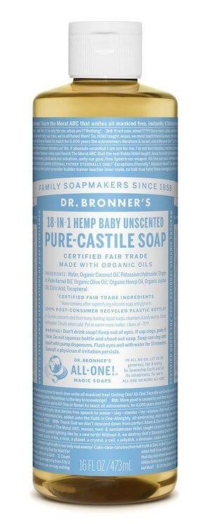 Dr Bronner's Baby Unscented Castile Soap