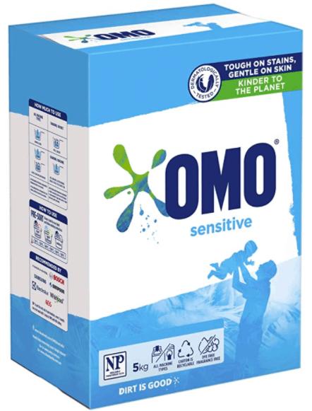 Omo Sensitive Front & Top Loader Laundry Detergent Washing Powder